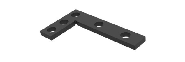 Angle precision square (flat)  275x150[mm] N.009