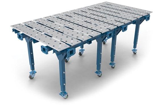 Double modular welding table.
