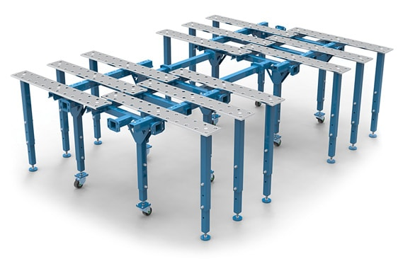Welding table kit with a large working surface.