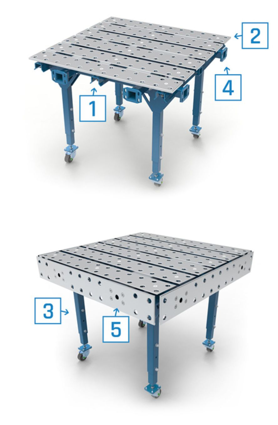 Single modular welding table.